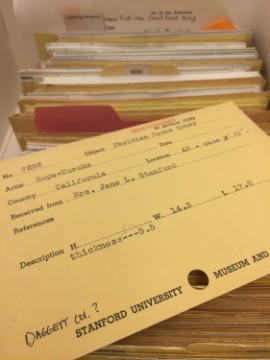 Catalogue cards at SUAC, another incomplete but vitally important museum inventory.
