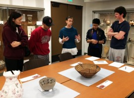 Christina J. Hodge, Academic Curator & Collections Manager, leads Stanford gradaute students on a tour of collections (2016).