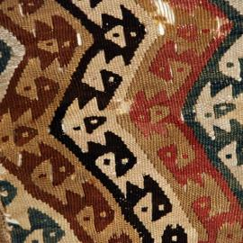 Detail, textile fragment, Peru, Chancay culture?