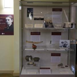 Display case for Leland Jr. exhibit