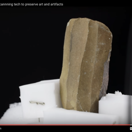 video image still of lithic core